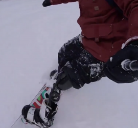 snowboarding on prosthetic limb